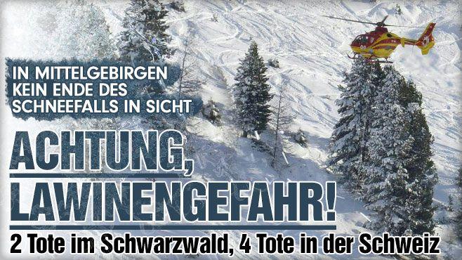 Der Januar endet eiskalt! Lawinengefahr und Unfälle in Deutschland - Schneemassen töten vier Menschen in der Schweiz http://www.bild.de/news/inland/wetter/lawinen-gefahr-in-sued-deutschland-39578922.bild.html