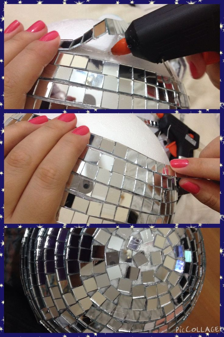 Globo Espelhado DIY