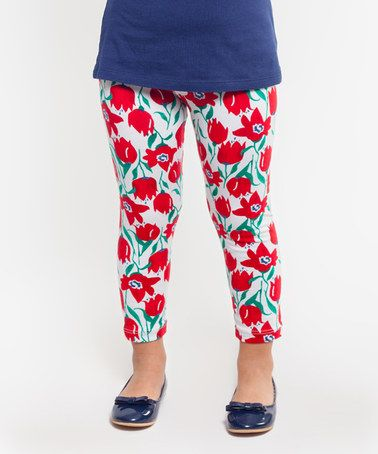 This Red Tulips Leggings - Infant, Toddler & Girls is perfect! #zulilyfinds
