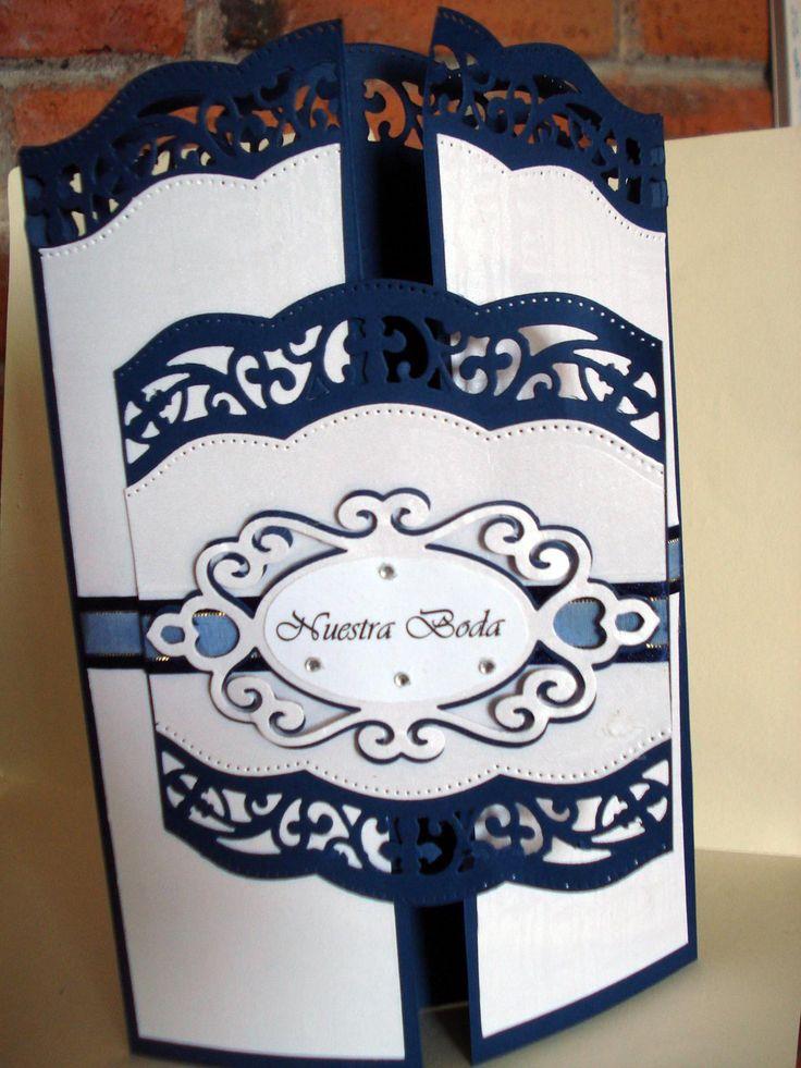 Para boda blanco con azul
