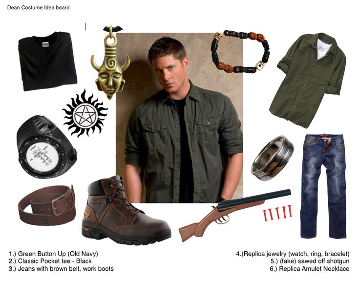 Dean Winchester Cosplay Idea Board by quallian....... I ... uh... MAY have an addiction.