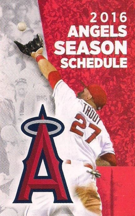 2016 #MLB #Baseball schedule - los angeles angels #27 mike trout [regular season] from $1.25