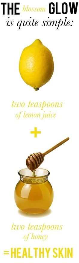 DIY Face Mask. - The lemon help with the dark marks and the honey moisturizes your skin