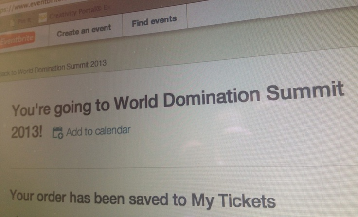 World Domination Summit, here I come! #WDS2013