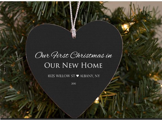 First Home Ornament, Our First Home, Christmas Ornament, Personalized, Custom…