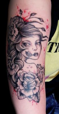 Zombie Girl Tattoo by Kate Muir
