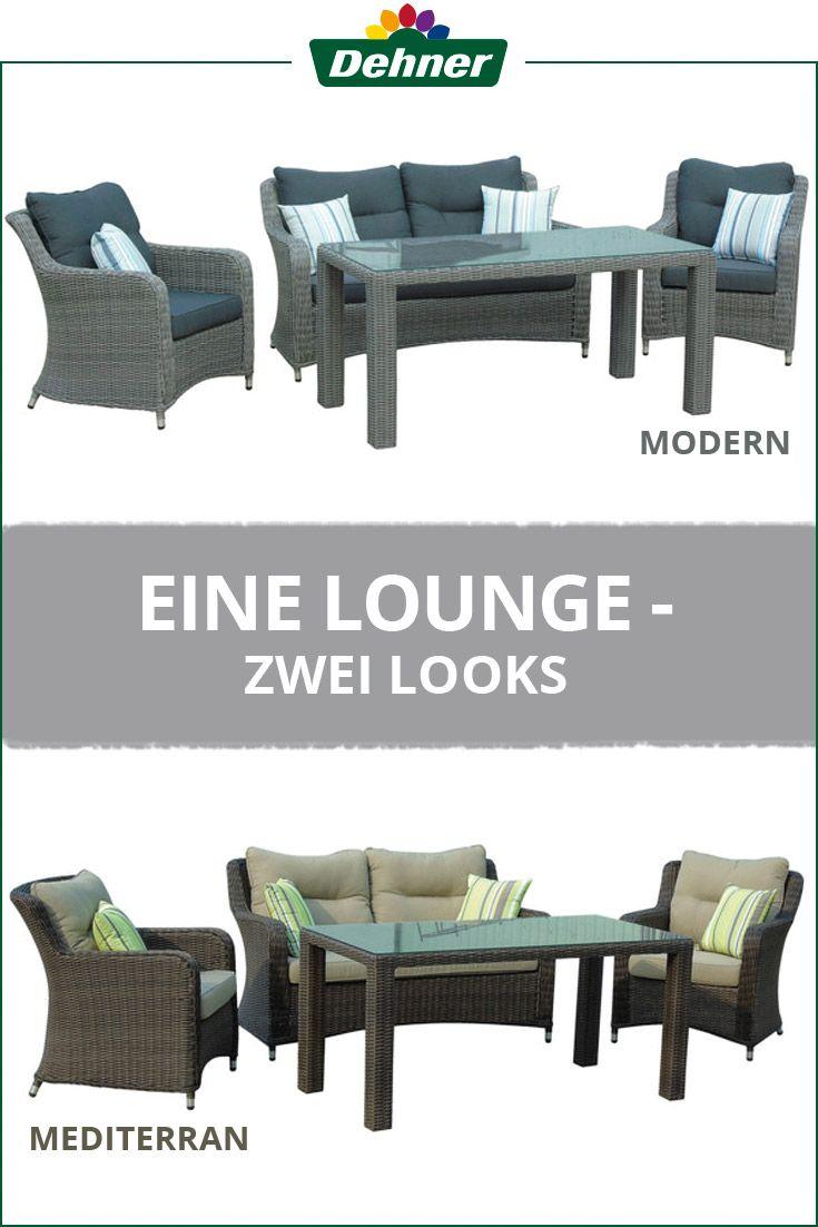 Eine Lounge Zwei Looks Lounge Loungegruppe Aussenmobel