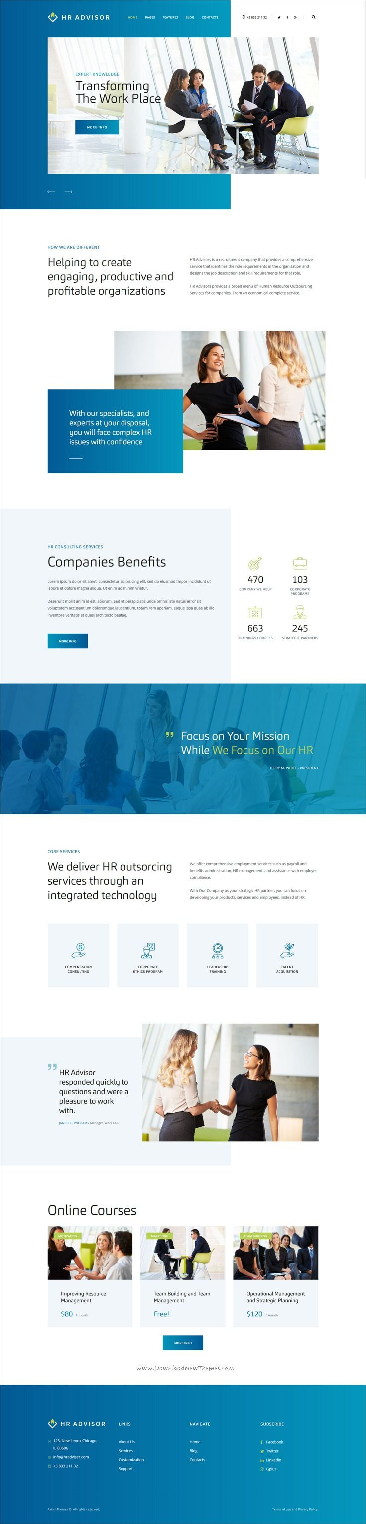 HR Advisor U0026 Business Consulting HTML Template