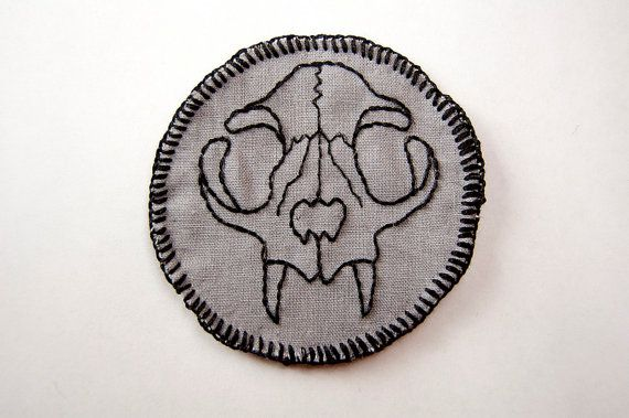Show off your dual love of cats and awesome looking bones with our Felis Domesticus patch.  Patch is approximately 3 in diameter (just slightly