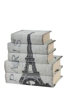 HauteLook   Easy Update: Vintage Decor: Book Boxes - Set of 5
