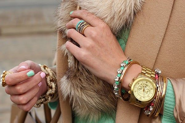 : Arm Candy, Colors Combos, Nails Colors, Pink Nails, Bracelets, Gold Watches, Nails Polish, Accessories, Arm Parties