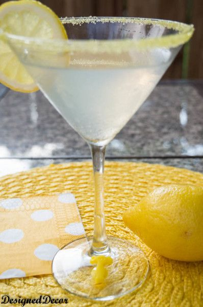 Lemon Delight Cocktail Recipe - Designed Decor >> #WorldMarket Cheers #Recipes