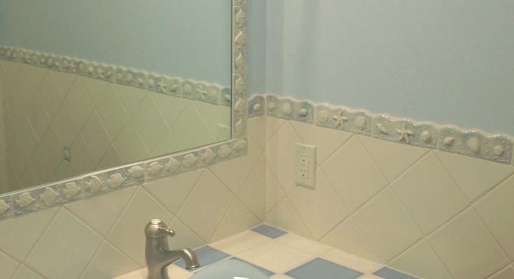 Custom Border Around Mirror Bathroom Ideas Pinterest