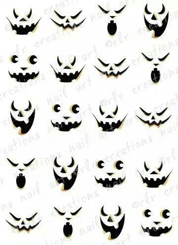 Cute Jack O Lantern Face Patterns