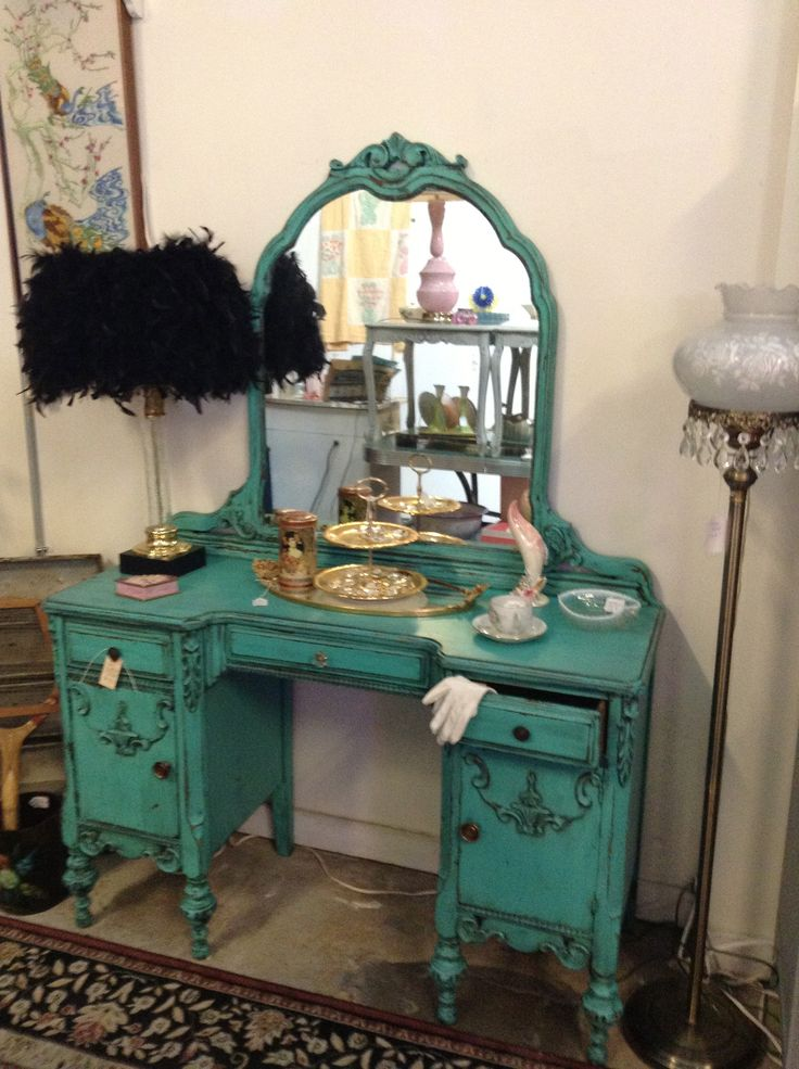 Fun 1930 S Turquoise Teal Vanity I Did It