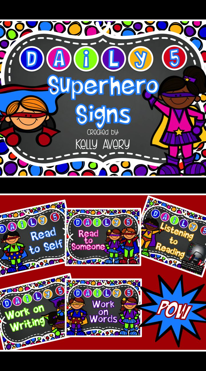 Are you a teacher with a Superhero themed classroom, or do you know of a colleague with this theme? Your students just might think they are in Gotham City after-all with these Daily 5 station signs! (Feel free to tag a colleague! ‪#‎teachersfollowteachers‬ ‪#‎teacherspayteachers‬ ‪#‎daily5‬ ‪#‎bts15‬