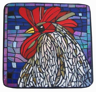 Mosaic rooster kim larson art mosaics more latest mosaic art fall 2010 mosaic rocks - Fall landscaping ideas a mosaic of colors shapes and scents ...