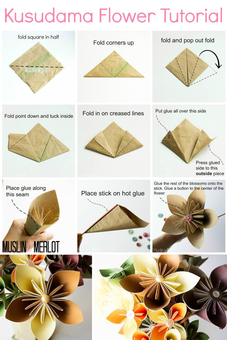How to make origami kusudama flower step by step - Muslin And Merlot Kusudama Flower Tutorial