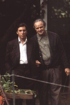 Michael Corleone (Al Pacino) & Don Vito Corleone (Marlon Brando) in 'The Godfather' (1972)
