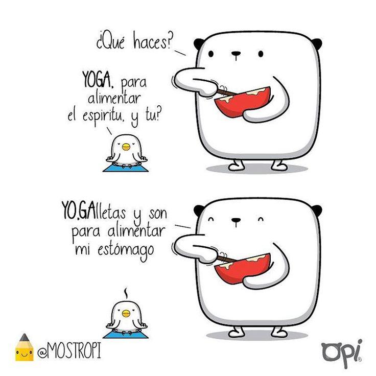 YOGA #OPI #kipi #cute #kawaii #mostropi ##ilustración #dibujo #yoga #galletas