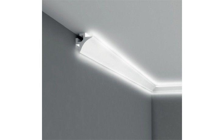 """Lichtleiste """"QL002"""" (Mardom Decor) - Stuckleiste für indirekte Beleuchtung (aus hochfestem Polyurethan) inkl. Reflexionsklebeband"""