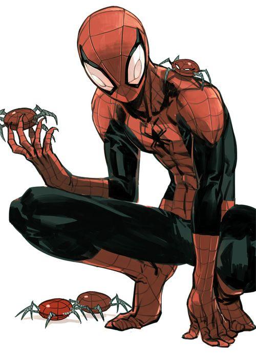 Spiderman by Shioshiorz ✤ || CHARACTER DESIGN REFERENCES | キャラクターデザイン | • Find more at https://www.facebook.com/CharacterDesignReferences & http://www.pinterest.com/characterdesigh and learn how to draw: concept art, bandes dessinées, dessin animé, çizgi film #animation #banda #desenhada #toons #manga #BD #historieta #strip #settei #fumetti #anime #cartoni #animati #comics #cartoon from the art of Disney, Pixar, Studio Ghibli and more || ✤