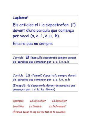 Català 5è alfabet, contraccions, noms