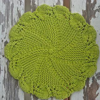 Linden leaf dishcloth | ravelry