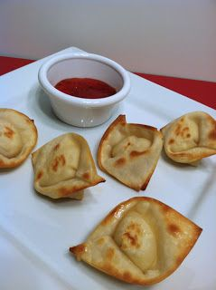 Baked cream cheese wontons. Could easily be made in the toaster oven. This recipe is basic but the cream cheese could have garlic and chives or sriracha or anything else added to it for extra flavor.