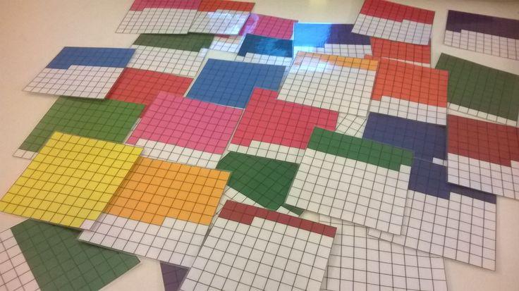 Inzicht in 100-veld (Hoeveel blokjes zijn gekleurd?)
