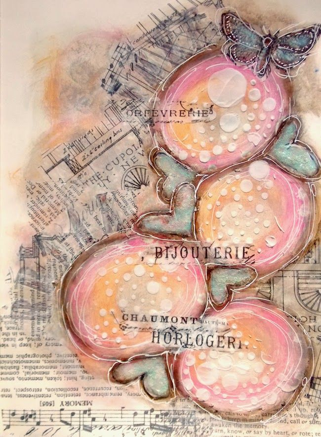 ART JOURNAL PAGE | BUBBLES | | Nika In Wonderland Art Journaling and Mixed Media Tutorials