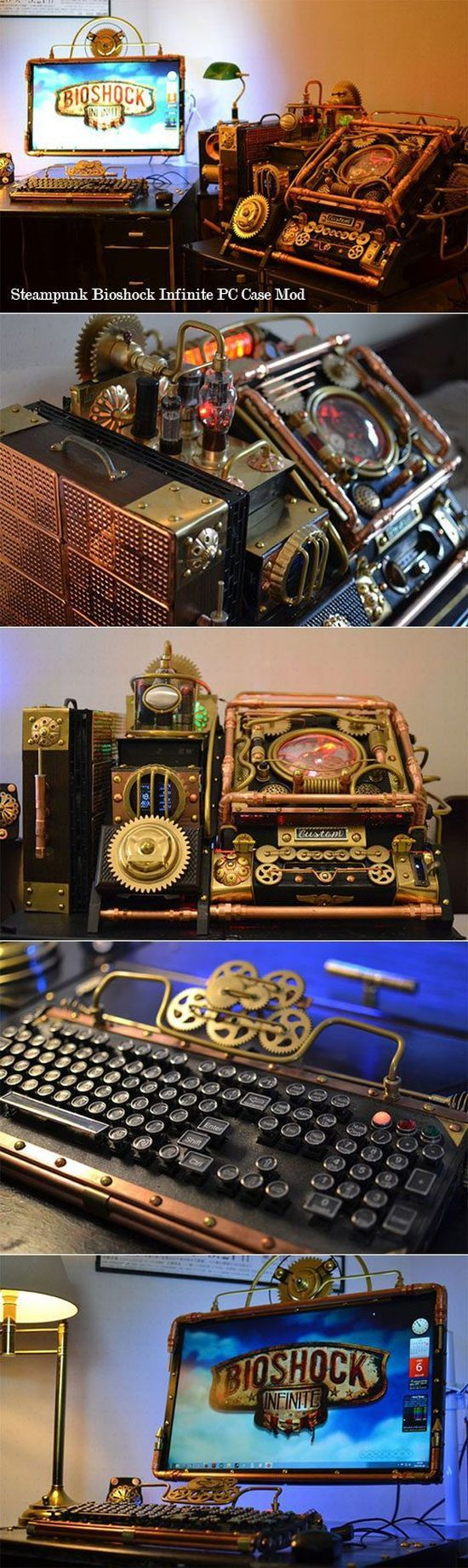 steampunk bioshock mod pc case