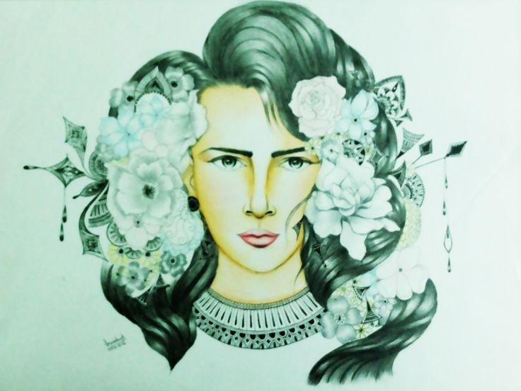 Bloom #watercolor #inkart by #srividyaSuddapalli
