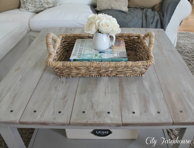 DIY ikea hacked barnboard table.