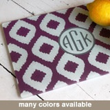 Monogramed cutting board: Boards Ikat, Personalized Cut Boards, Gifts Ideas, Clairebella Monograms, Bridesmaid Gifts, Cutting Board, Great Gifts, Hostess Gifts, Ikat Patterns
