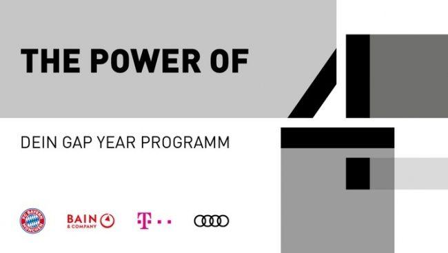 Kooperation von Audi, Bain, Deutsche Telekom und FC Bayern München / Gap-Year-Programm gewährt Studenten Einblicke in Top-Unternehmen  Die vollständige #News finden Sie in unserem kostenfreien Branchenbuch unter: https://www.branchenanzeigen24.com/artikel/sonstige-nachrichten/kooperation-von-audi-bain-deutsche-telekom-und-fc-bayern-muenchen-gap-year-programm-gewaehrt-studenten-einblicke-in-top-unternehmen/1087.html  #Artikel #Mitteilung #ots #Wirtschaft #Arbeit #Bachelor