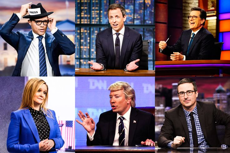 How Late Night Sharpened Its Teeth in the Age of Trump  Seth Meyers, John Oliver, the Daily Show's producers, and more tell Vanity Fair how President Trump changed the game—and where late night might go from here.