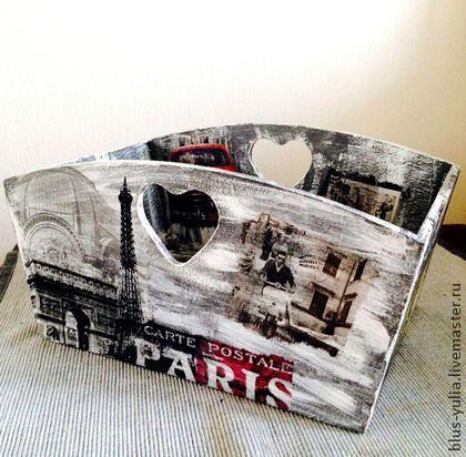 декоративные ящики для хранения Города Мира - чёрно-белый,ретро стиль