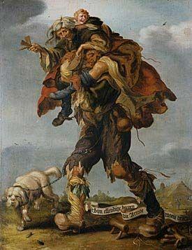 Adriaen Pietersz van de Venne (Dutch, Delft 1589 - 1662 The Hague)  Allegory of Poverty