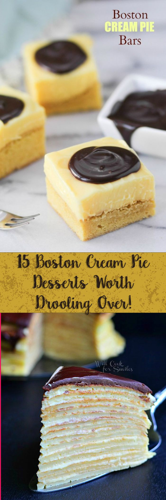 Everything Boston Cream Pie -- from bars, cheesecakes, even a pancake breakfast!