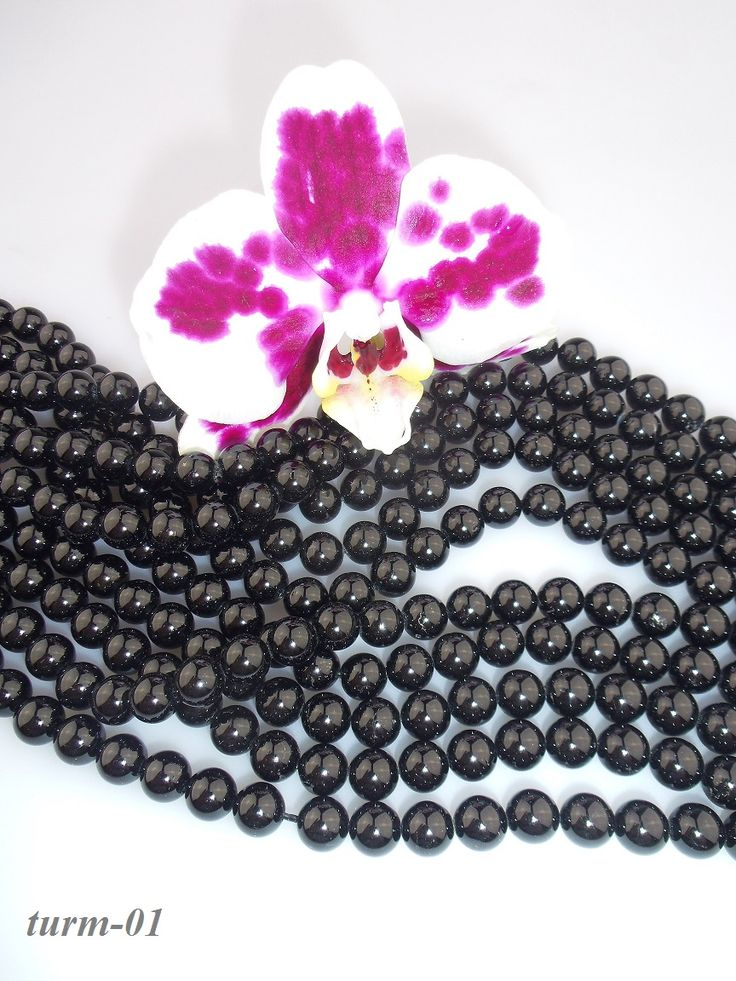 turmalín čierny korálky 8mm