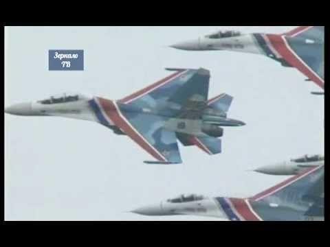 Асы России. Самый высший пилотаж над крышами Москвы ...  Кинохроника