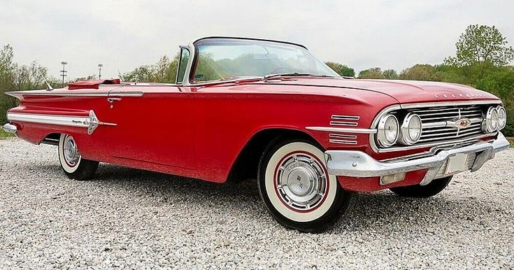 1960 Chevrolet Impala Convertible Roman Red 348 V8 Tri Power