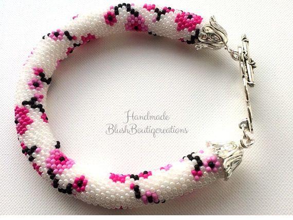 20offbeadwork Bracelet Bead Crochet Beaded Rope Bracelet