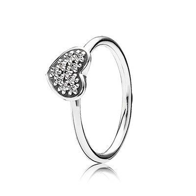Pandora Ring Black Friday Heart silver with pave set cubic zirconia
