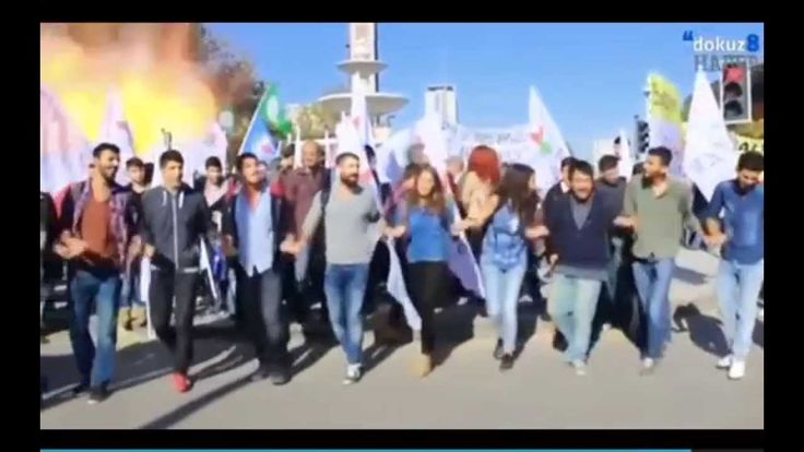 This video shows the moment a blast ripped into a crowd of Kurdish innocents holding a peace rally on October 10th, 2015, in Ankara, Turkey. Two explosions m...