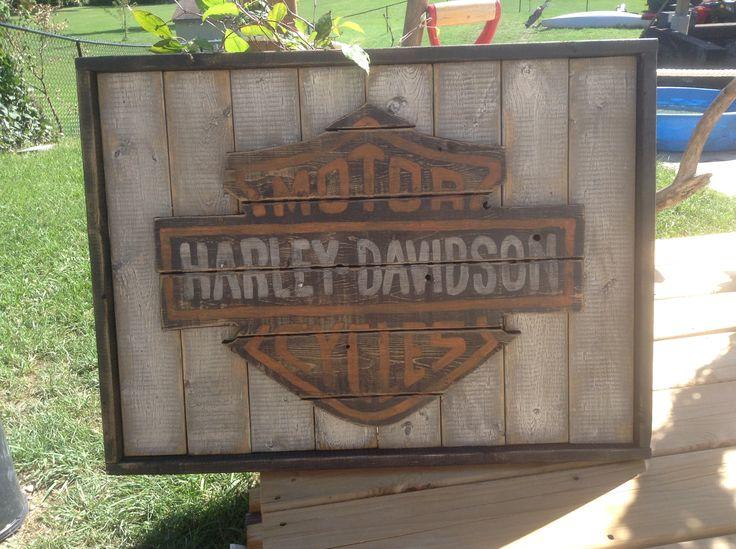 Harley Davidson hand painted sign