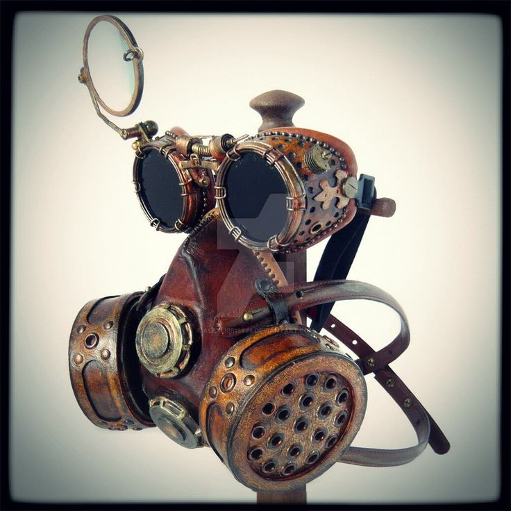 Steampunk goggles and mask by alexlibris999