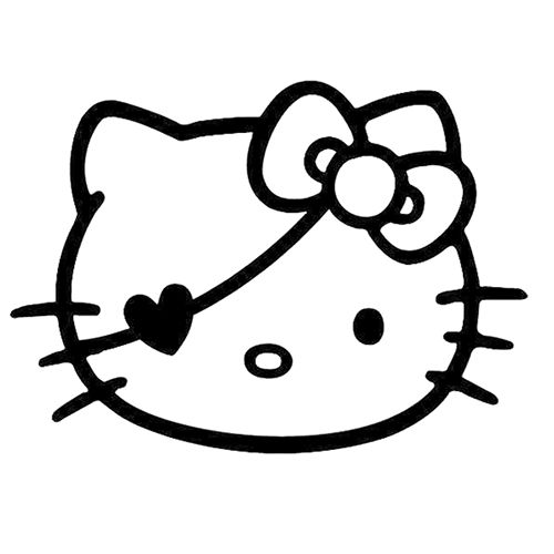 Hello Kitty Pirate Laptop Car Truck Vinyl Decal Window Sticker PV181