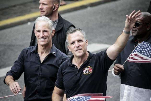 Ambasador Gifford and his husband Denmark Pridemarch 2016